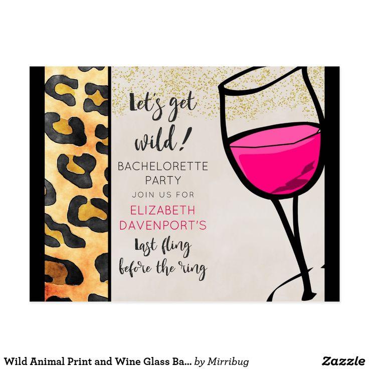 Wild Animal Print and Wine Glass Bachelorette