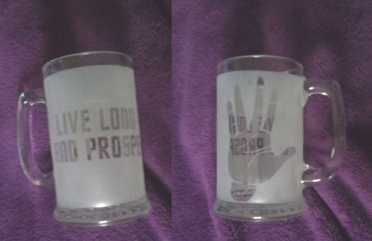 Star Trek LLAP Vulcan, Spock's hand coffee mug OOAK by WhyteRavenStudio on Etsy