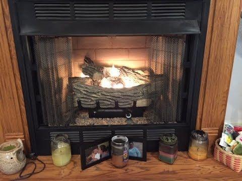 Diy Clean Light Your Gas Log Fireplace Gas Fireplace Logs Gas Logs Fireplace