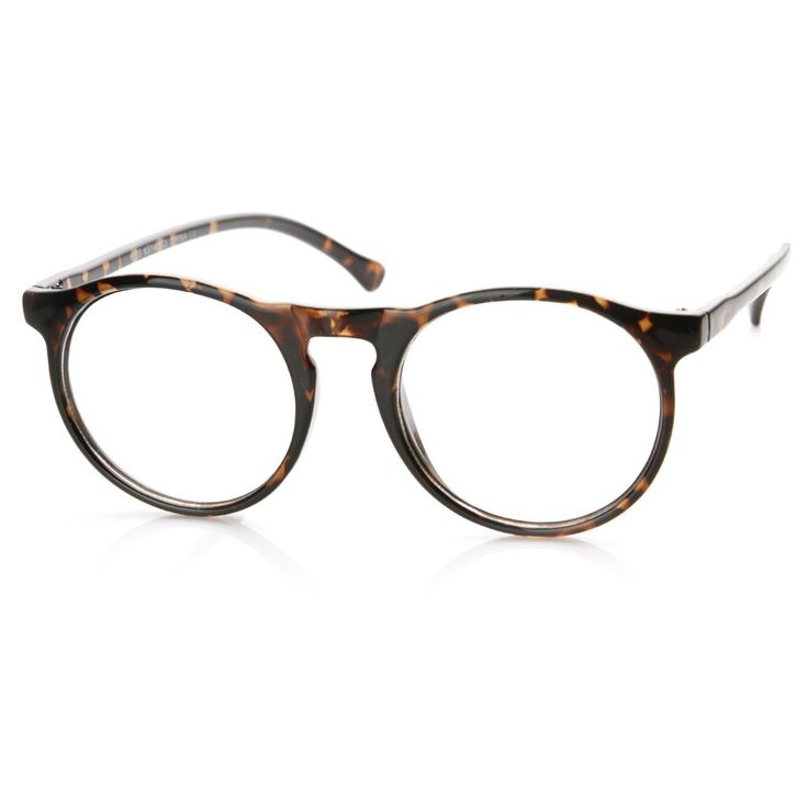 Classic vintage inspired round P-3 frame that features a key hole nose bridge and clear lenses. Perfect for a classic retro sophisticated look! Made with an acetate based frame, metal hinges and clear