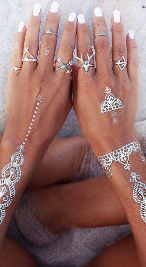 Sterling pretties & silver flash tatts.