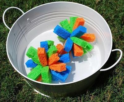 bombas con esponjas de agua