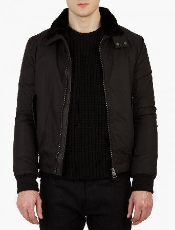 Yves Salomon Black Detachable Beaver-Fur Lined Harrington Jacke The Yves Salomon Beaver-Fur Lined Harrington Jacket, seen here in black. - - - This classic Harrington jacket is given a luxurious update by Yves Salomon with the addition of a soft beaver fur lining  http://www.MightGet.com/january-2017-13/yves-salomon-black-detachable-beaver-fur-lined-harrington-jacke.asp