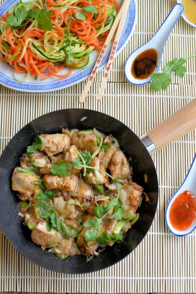 Healthy Kung Pao Chicken :http://www.lavenderandlovage.com/2016/04/healthy-kung-pao-chicken.html 281 cal