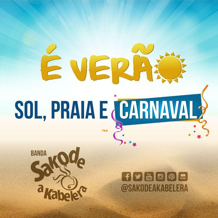 """Venha ser feliz na estação mas quente do ano. A banda Sakode a Kabelera está em contagem regressiva para o melhor carnaval do mundo. Aguardem o novo hit do verão e das academias """"Saradão"""". #novosucessochegando #axé #carnaval2016"""