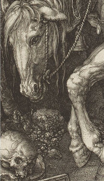 Knight, Death and the Devil by Albrecht Dürer (1513)-detail