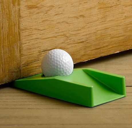 Golfers Doorstop is brilliant on many levels. One, it's a doorstop - massively useful. Secondly, it's your very own indoor Golf course that you can move anywhere - perhaps the golfer in the family will stay at home more rather than escaping onto the course (it's worth a try). Thirdly, it looks cool and makes the ideal gift for anyone into golf! Put the golfer's doorstop in your house and practice to your hearts content!Golfers Doorstop is also the perfect gift for the king of procrastination…
