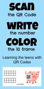 QR Codes for counting the teens.