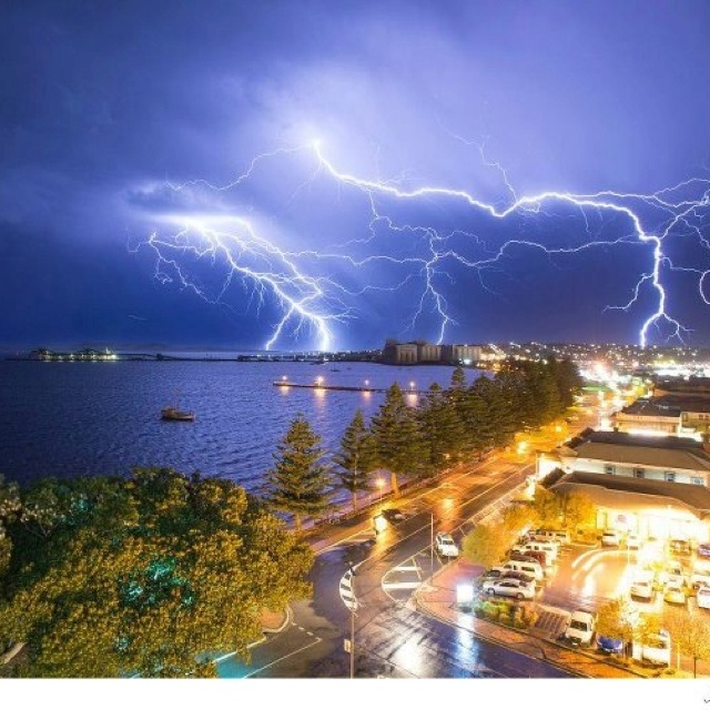 Lightening storm over Port Lincoln, South Australia