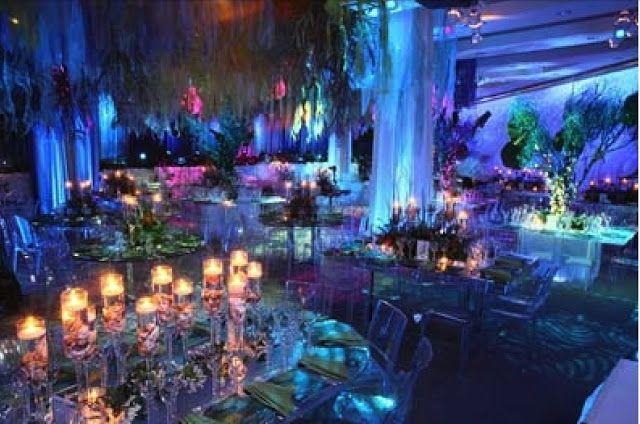 Crystal Moonlight Wedding Decorations
