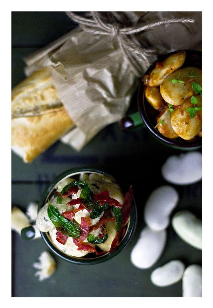 Sour cream, sage, chorizo & tomato beans