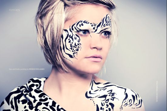 Zebra Face Painting design by Tatts4u, Face painting in ...