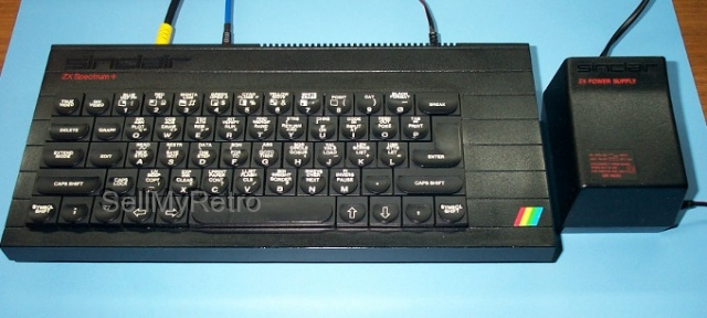 48K ZX Spectrum+ and power supply. (Refurbished and in perfect working order).