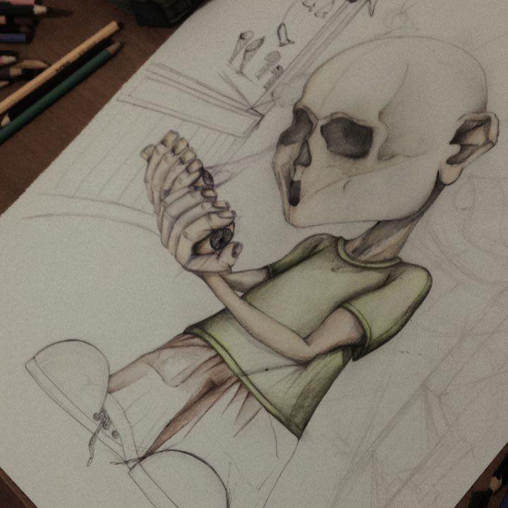 """Mi piace"": 32, commenti: 1 - Silvestri Anastasia (@anast_silvestri) su Instagram: ""Enzo #enzo #anast #anastasia #anastleimiparla #artist #art #illustration #illusion #عيون #eyes…"""