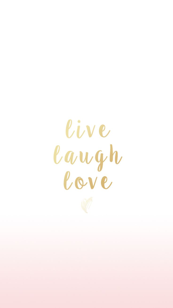 Live laugh love simple iPhone wallpaper