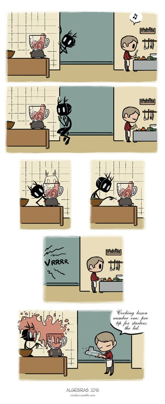 Pet Wendigo strip 26 - Cooking lesson by Algesiras.deviantart.com on @DeviantArt