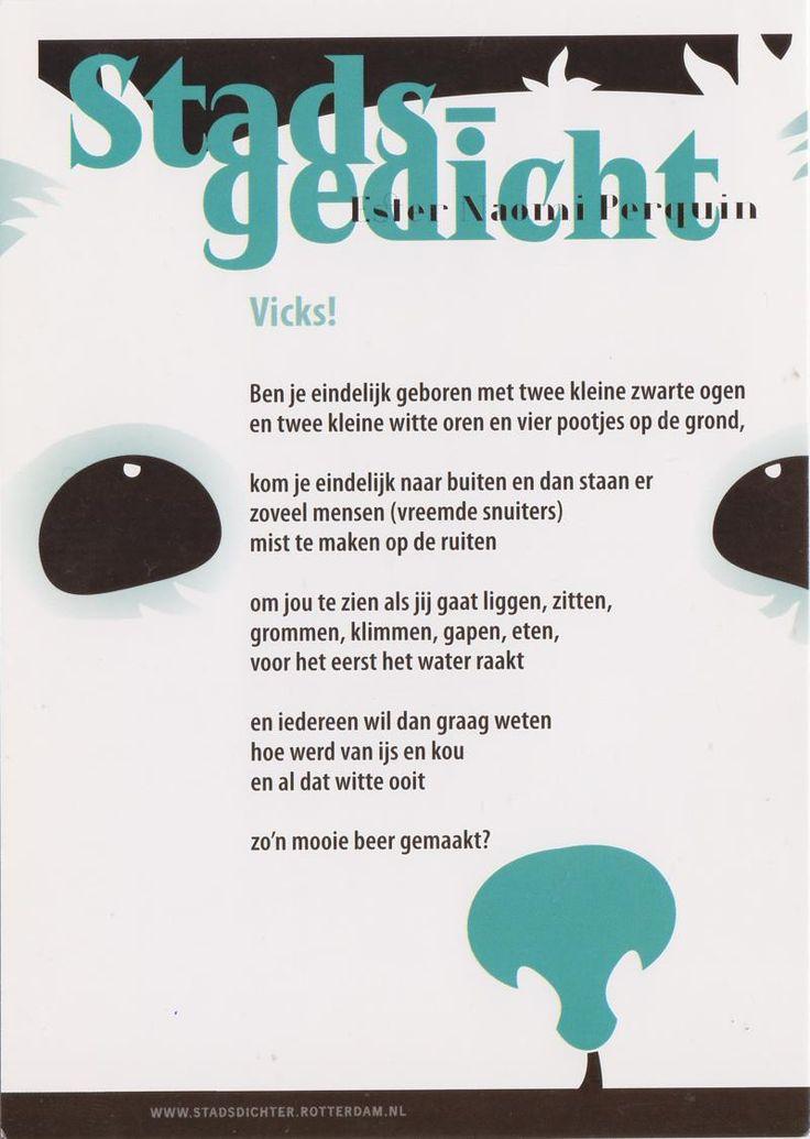Postcard sent to The Netherlands >> Stadsgedicht van Esther Naomi Perquin (stadsdichter van Rotterdam)