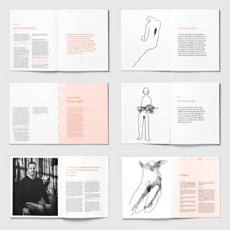 Inspiration Hut Various Book Layouts from Swedish Design Agency - Bold - Graphic Design, Inspiration | Inspiration Hut