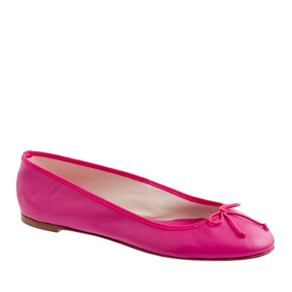 J Crew ballet flats: Classic Leather, Color, Pink Flats, Hot Pink, J Crew Ballet, New Shoes, Jcrew Ballet, Leather Ballet Flats, Pink Ballet