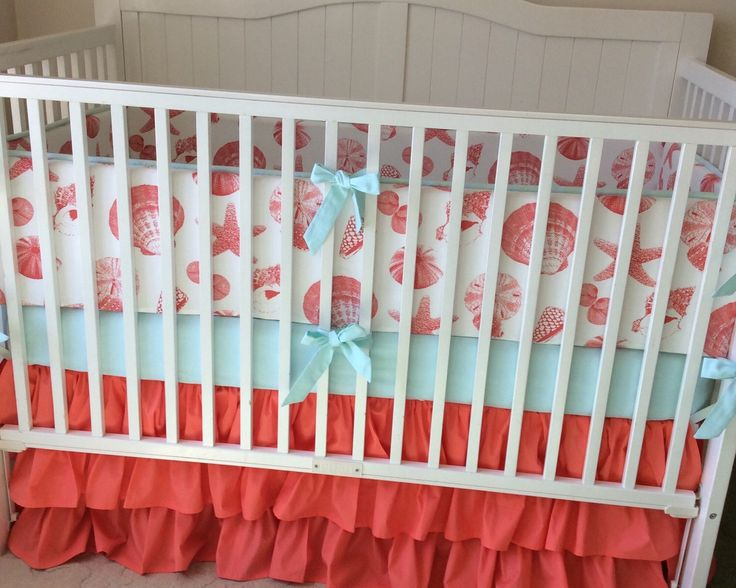 Ruffled Beach Crib Bedding Set By Erbeansboutique On Etsy Https Www