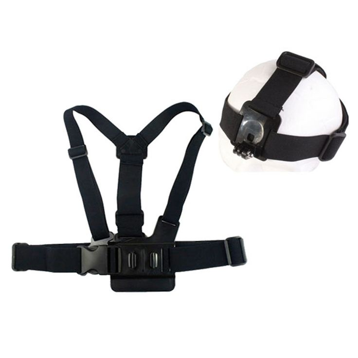 New GP59 Elastic Adjustable Head Strap Mount Belt and Chest Belt Mount Kit For Sports camera Series Action Camera Accessories //Price: $11.98      #FirstDayOfSummer