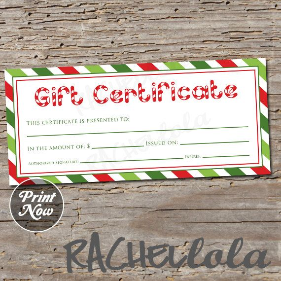 62 best gift certificate downloads images on Pinterest Gift - Christmas Certificates Templates For Word