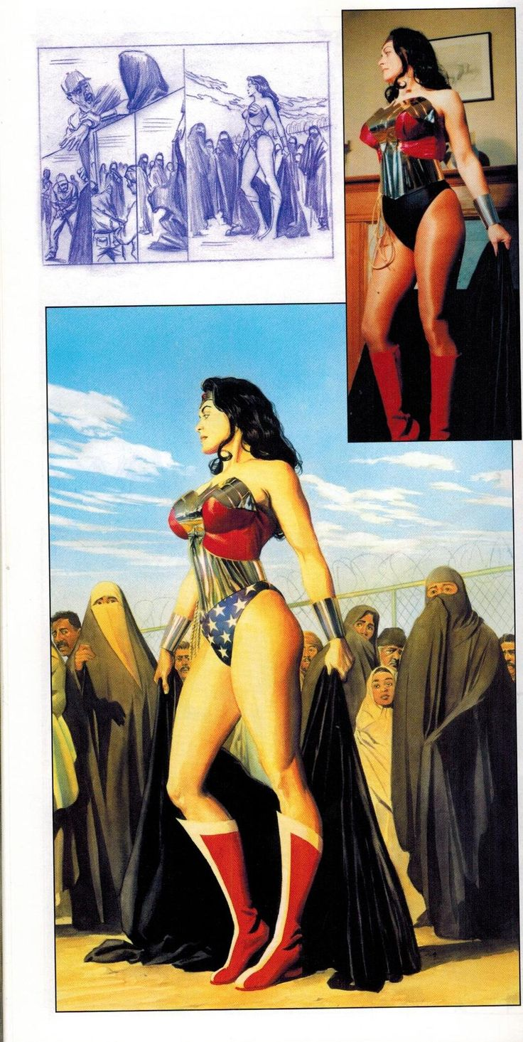 Alex Ross' Wonder Woman w/ sketch and model photo
