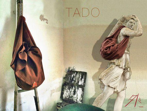 TADO  Sac Besace en pure laine Vintage  Furoshiki par PureTado