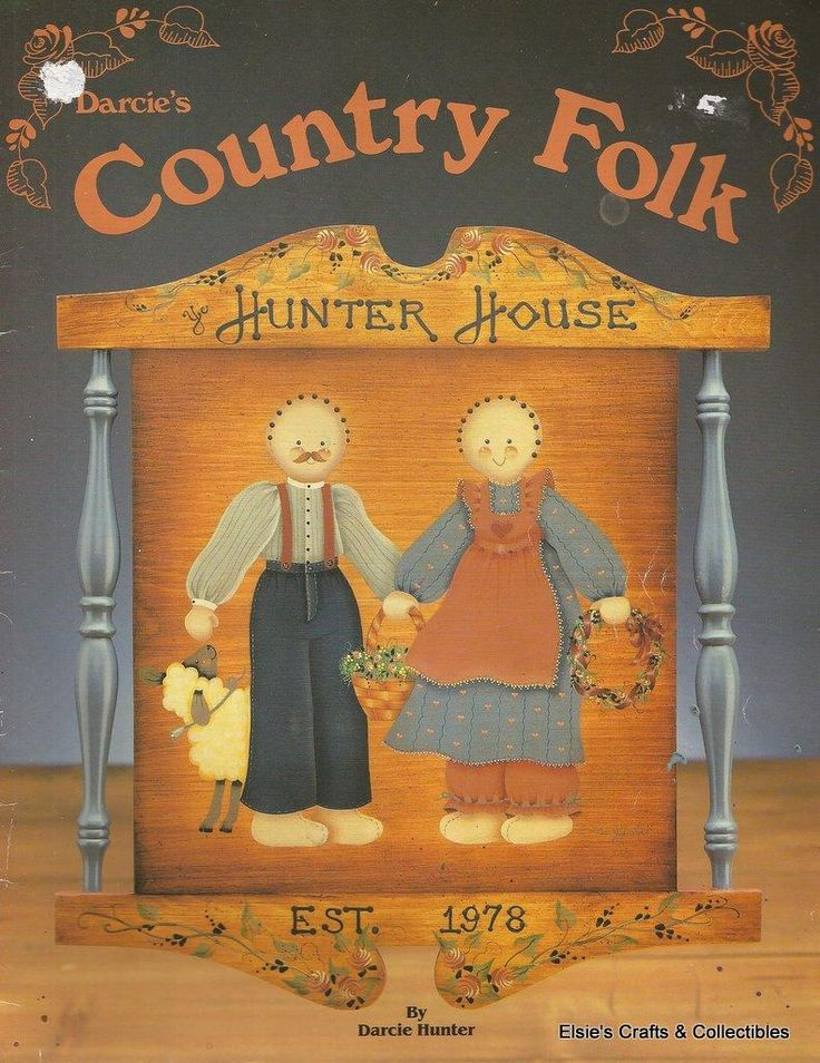 103 best country folk art images on pinterest primitive for Folk art craft paint