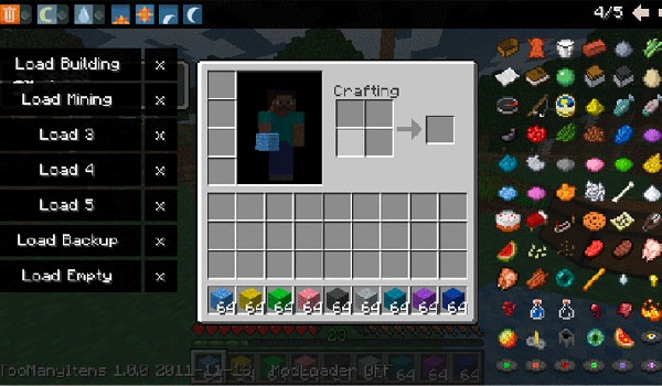 Too Many Items Mod para Minecraft 1.3.1