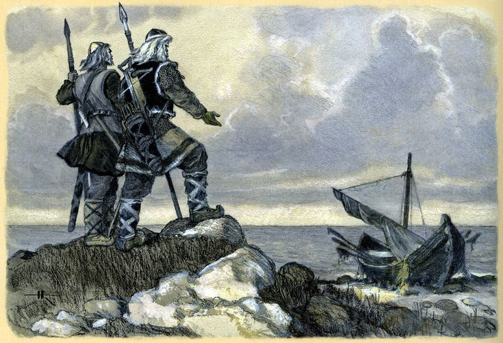 nicolai kochergin_kalevala_16_vainamoinen and ilmarinen go to pohjola to take the sampo_01.jpg (1600×1090)