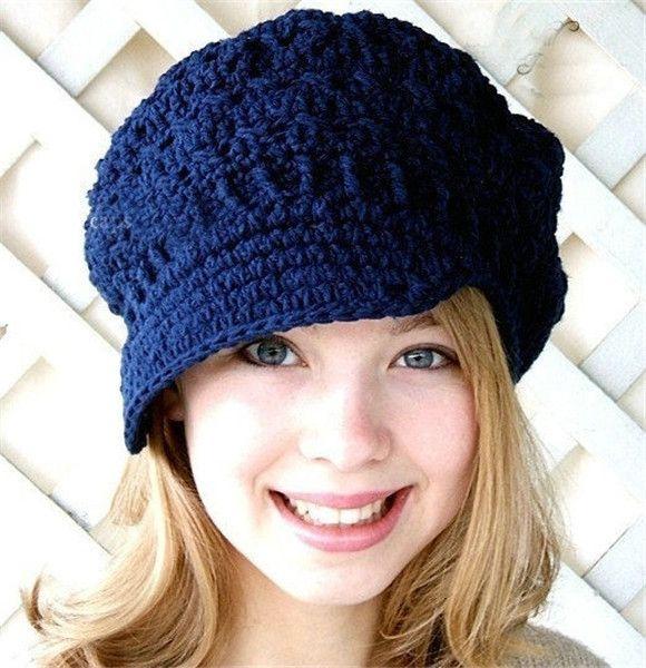 XL size New toddler hat Spring beanie women's newsboy hat crochet adult hats knitting patterns women Beret hats free shipping