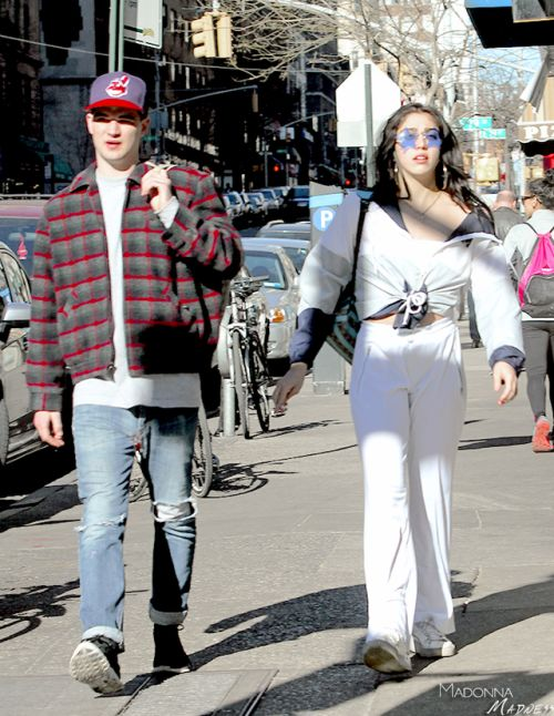 madonna-madness: Lourdes Leon and her BF out in NYC 2/19/2017