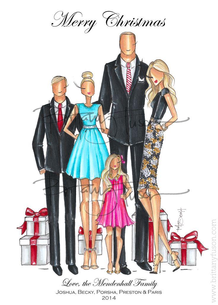 Brittany Fuson: Custom Christmas Cards www.brittanyfuson.com