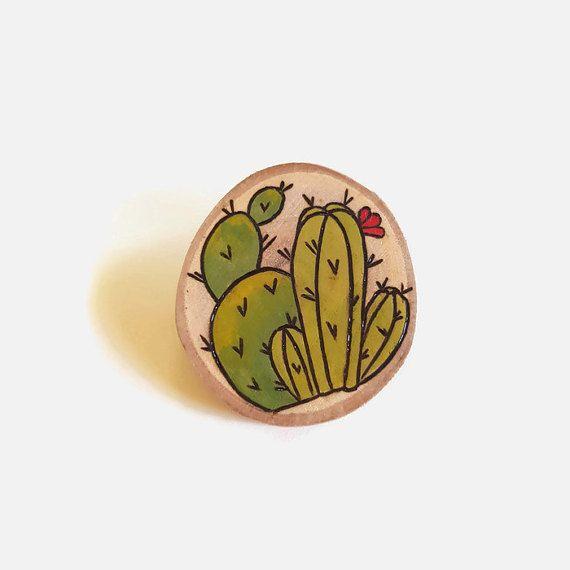 Pin de cactus  cactus broche broche por Memoriesfromashore en Etsy