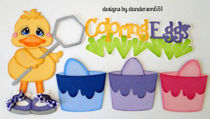 listed on ebay...danderson651 Easter, Chick Eggs, Paper Piecing, Embellishments, borders, scrapbooking, PreMade facebook - danderson651
