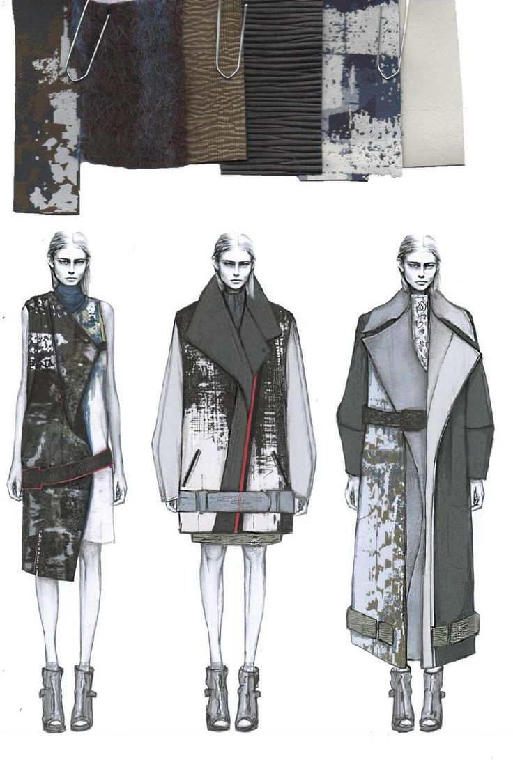 Fashion Sketchbook - fashion illustrations & textiles for graduate fashion collection; fashion portfolio // Amy Dee