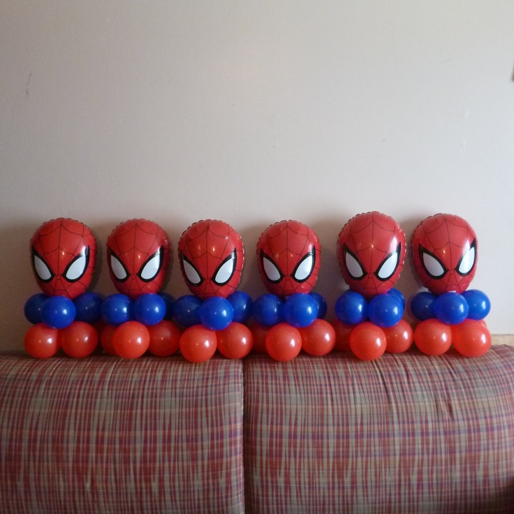 10 best spiderman balloons decor images on pinterest for Spiderman decorations