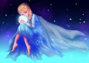 Elsa from Frozen-anime art e-shuushuu.net