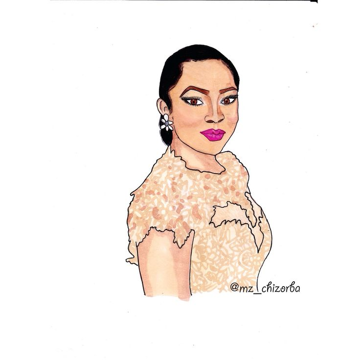 Illustration of Toke Makinwa by Jessica James  www.loveweddingsng.com
