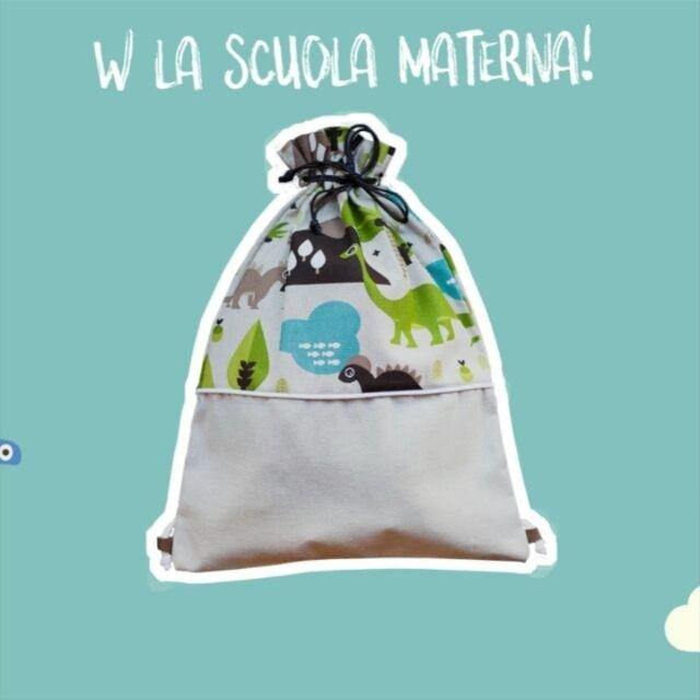 Mancano solo 7 settimane all' inizio della scuola materna e qui si continua a realizzare sacchi-zainetti per i più piccoli!  Trovate tutte le fantasie su www.ilricamificio.net sezione shop online!  #sacchiasilo #kids #zainetto