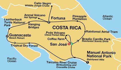 Costa Rica 9 day all inclusive trip caravan.com