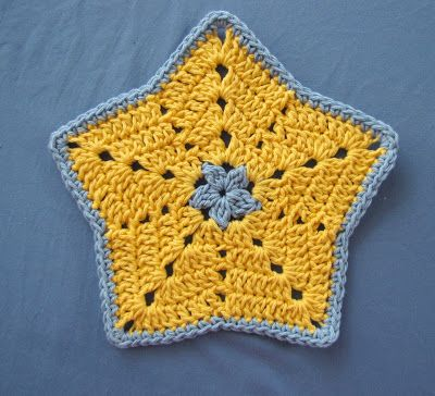 BellaCrochet: Little Star Dish Cloth or Wash Cloth: a Free Pattern for You