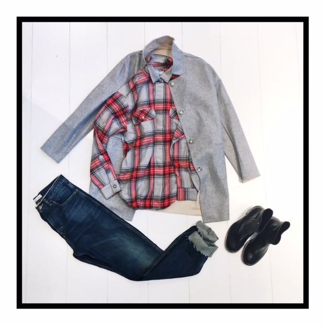 Reversible Jacket by Closed / Jeans by Golden Goose Deluxe Brand and Boots by Manila Grace
