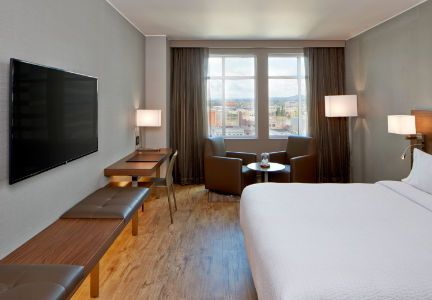 Where Britt and Dom are staying: Explore the excitement of the city & enjoy sophisticated accommodations from AC Hotel Portland Downtown, a brand new boutique hotel in Portland, Oregon.
