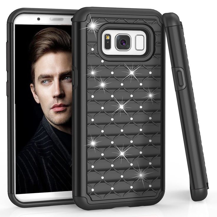 Samsung S8 Case, Galaxy S8 Case, TILL(TM) Studded Rhinestone Crystal Bling Shock Absorbing Hybrid Defender Rugged Slim Case Cover For Samsung Galaxy S8 S VIII 5.8 Inch 2017 [Black]. Galaxy S8 Case, TILL Studded Rhinestone Crystal Bling Dual Layer Armor Rugged Case, Perfectly Fit Samsung Galaxy S8 Phone U.S. Cellular ,T-Mobile, AT&T, MetroPCS,Tracfone, Boost International unlocked. Samsung Galaxy S8 Cover, Reinforced Corner Increase Shock Absorbing when your Samsung Galaxy S8/Galaxy S VIII…
