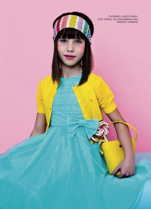From our editorial - CANDY CANDY Photos: Zhanna Romashka Stilist: Only Stylish People Hair: Giorgia Rizzardi Trussardi Junior shawl, Elsy dress, Dolce&Gabbana bag, Missoni hairband.  #candy #trussardi #shawl #elsy #dress #dolceegabbana #bag #missoni #hairband @Natali Trusova @Dolce & Gabbana @Missoni