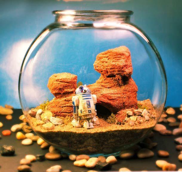 Superbes créations miniatures imaginées par Tony Larson, qui réalise des scènes très détaillées dans des aquariums, des terrariums et autres récipients en verre…