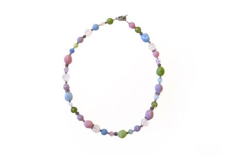 Pastel Natural Geo Necklace – Dirty Lola's