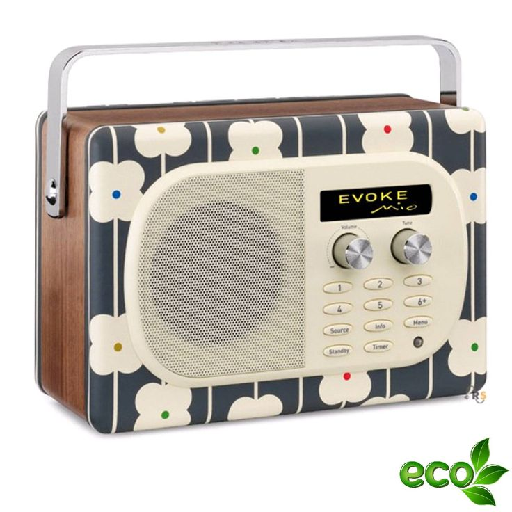 "Pure Evoke Mio DAB/DAB plus Radio ""Abacus Flower"" by Orla Kiely, mit UKW"